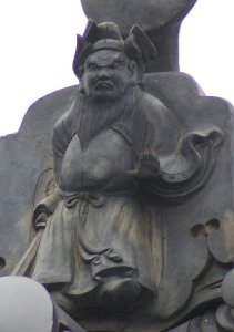 長野市若穂川田の鍾馗さん(吽行)