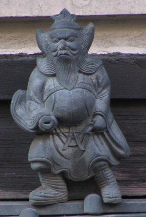 京都市中京区二条通の鍾馗さん