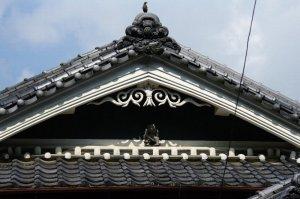 伝統様式の民家&鍾馗(御所市船路)