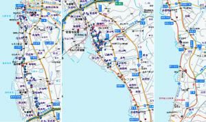 常滑の鍾馗地図