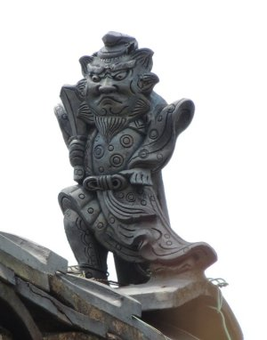 平群町平等寺の鍾馗さん