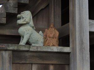 狛犬と鍾馗