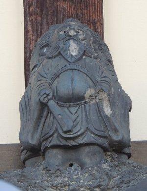 竹田街道の三面鍾馗