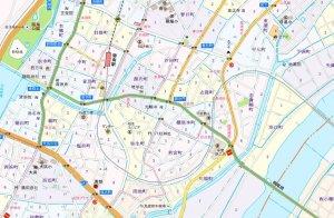棚尾の地図