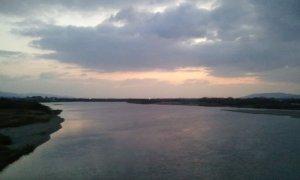 吉野川 阿波中央橋 2013年12月15日早朝