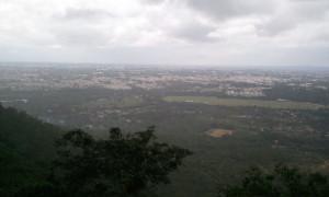 チャームンディーの丘から見るマイソール市街