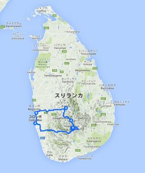 whole map Sri Lanka